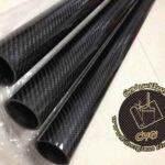 لوله کامپوزیت کربن ساخته شده به روش رشته پیچی یا فیلامنت وایلدینگ